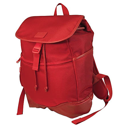 """SUMO Carrying Case (Backpack) for 15"""" Notebook - Red - Ballistic Nylon, Polyurethane Leather, Faux Leather - Shoulder Strap - 17"""" Height x 14"""" Width x 6"""" Depth"""