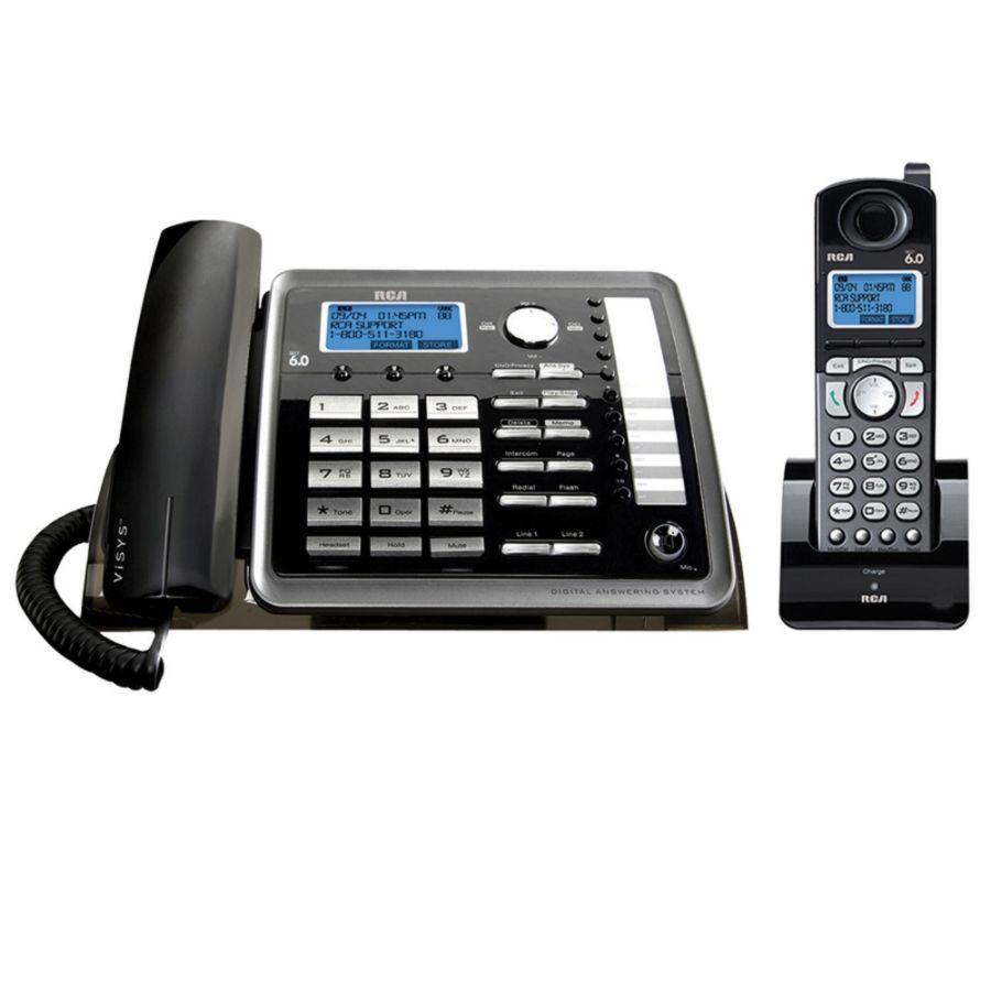 rca 25255re2 dect 6 0 digital 2 line cordedcordless expandable phone rh officedepot com rca phone manual 25202re3-b rca phone manual 25202re3-b