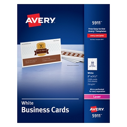 Avery laser microperforated business cards 2 x 3 12 white pack of avery laser microperforated business cards 2 x 3 12 white pack of 2500 by office depot officemax colourmoves