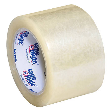 "Tape Logic® #350 Industrial Acrylic Tape, 3"" Core, 3"" x 55 Yd., Clear, Case Of 24"