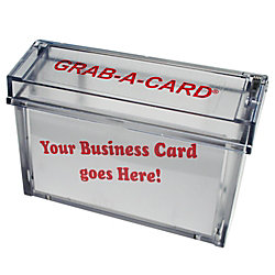 Grab a card outdoor business card holder clear by office depot grab a card outdoor business card holder clear colourmoves