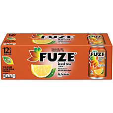 Fuze Tea With Lemon 12 Oz
