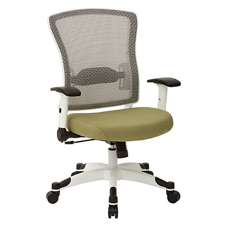 Office Star™ Space Seating Mesh Mid-Back Chair, Lily Pad/White