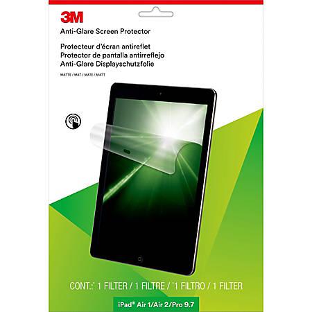 "3M™ Anti-Glare Screen Protector for Apple®; iPad Air®; 1/2/Pro®; 9.7 - For 9.7"" iPad Air, iPad Air 2, iPad Pro - 4:3 - Clear, Matte"