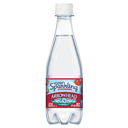 Nestlé Waters Sparkling Spring Water, Strawberry, 16.9 Oz, Pack Of 24 Bottles