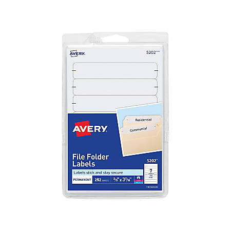 Avery Print Or Write Permanent Inkjetlaser File Folder Labels 5202