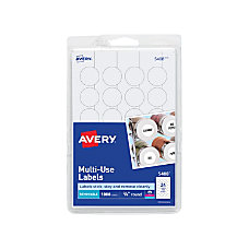 Avery Removable Round Multipurpose Labels ID