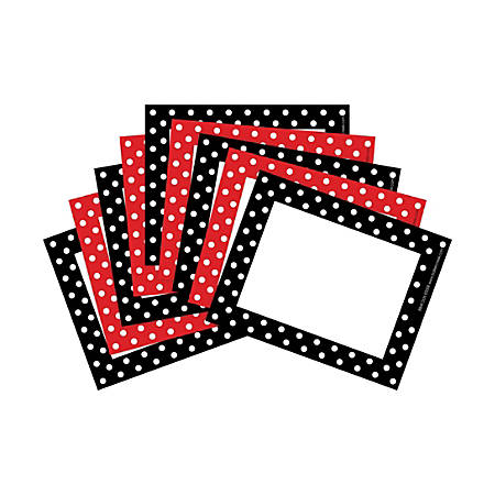 "Barker Creek Dots Name Badges/Self-Adhesive Labels, 3 1/2"" x 2 3/4"", Multicolor, Pack Of 90"