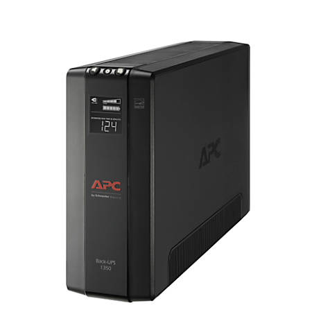 APC® Back-UPS® Pro BX Compact Tower Uninterruptible Power Supply, 10 Outlets, 1,350VA/810 Watts, BX1350M
