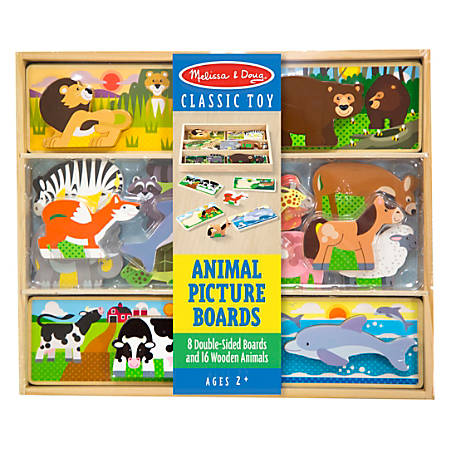 Melissa & Doug Animal Picture Boards, Pre-K - Kindergarten, Pack Of 8
