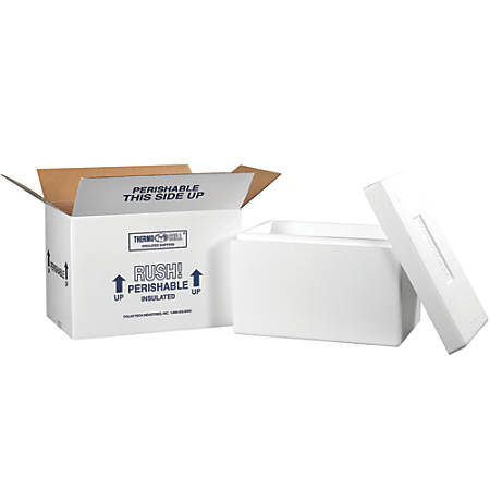 "Office Depot® Brand Insulated Shipping Kit, 10 1/2""H x 10""W x 17""D, White"