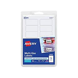 Avery Removable InkjetLaser Multipurpose Labels 5430