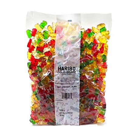Haribo Gummies, Gold Bears, 5-Lb Bag