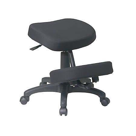 Office Star® Work Smart Ergonomic Knee Chair, Black