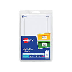 Avery Removable InkjetLaser Multipurpose Labels 5450