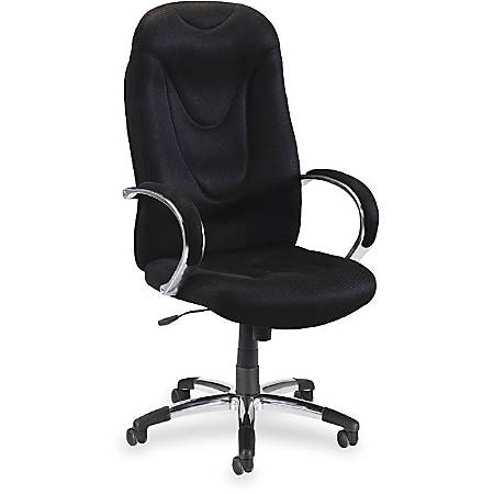 Lorell Wellness By Design Airseat Executive High Back Fabric Chair
