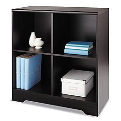 Realspace® Magellan 4-Cube Bookcase, Espresso