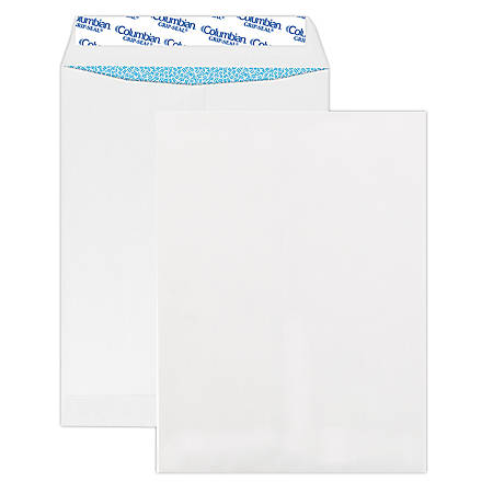 """Quality Park® Grip-Seal® Security Tinted Catalog Envelopes, 9"""" x 12"""", White, Box Of 100"""