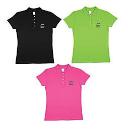 Ladies 100percent Cotton Screened Polo Shirt