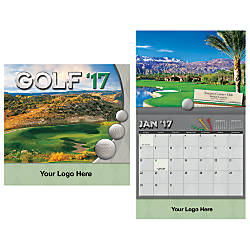 Golf 13 Month Wall Calendar 10
