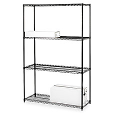 Lorell Industrial Wire Shelving Starter Unit