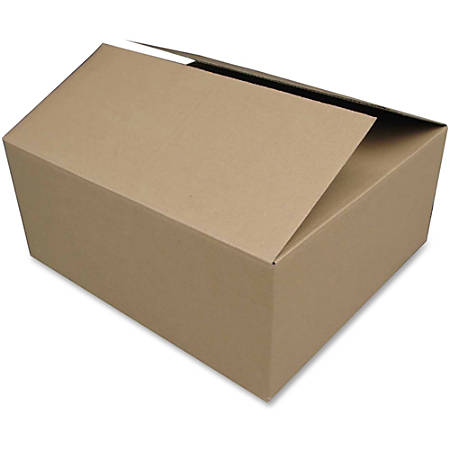 """Sparco Shipping Cartons - External Dimensions: 20"""" Width x 12"""" Depth x 8"""" Height - Corrugated - Kraft - For Mailroom - Recycled - 25 / Pack"""