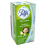 Puffs Plus Lotion-To-Go 2-Ply Facial Tissue, White, 10 Tissues Per Pack, Box Of 2 Packs