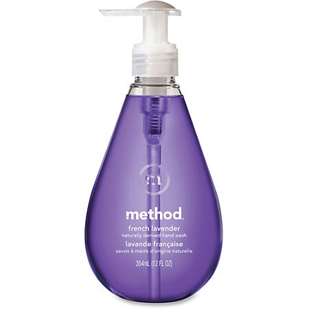 Method French Lavender Gel Hand Wash - French Lavender Scent - 12 fl oz (354.9 mL) - Pump Bottle Dispenser - Bacteria Remover - Hand - Lavender - Non-toxic, Triclosan-free, Moisturizing, pH Balanced, Anti-bacterial, Anti-irritant - 6 / Carton