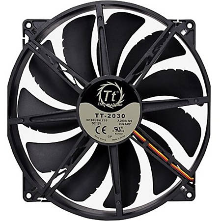 Thermaltake Pure 20 DC Fan - 1 x 200 mm - 1 x 129.6 CFM - Long Life Sleeve Bearing - 3-pin