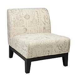Ave Six Glen Accent Chair ScriptDark
