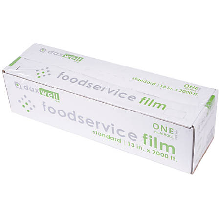 "Daxwell Food Film Wrap, 18"" x 2,000', Clear"