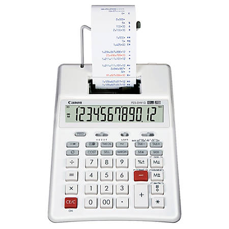 "Canon P23-DH VG ""Green"" Printing Calculator"