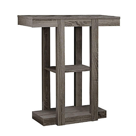 Monarch Specialties Console Table, 3 Tier, Dark Taupe