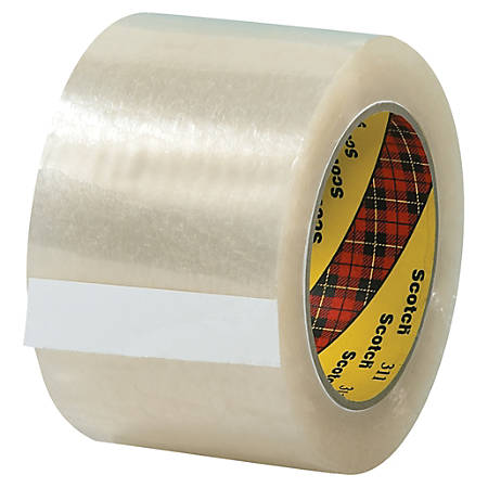 "Scotch® 311 Carton Sealing Tape, 3"" Core, 3"" x 110 Yd., Clear, Pack Of 6"