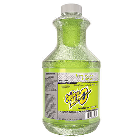 Sqwincher Lite Liquid Concentrate, Lemon-Lime, 64 Oz, Case Of 6