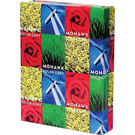 """Mohawk Smooth Color Copy Paper, 11"""" x 17"""", 94 Brightness, 28 Lb, 100% Recycled, White, 500 Sheets Per Ream"""