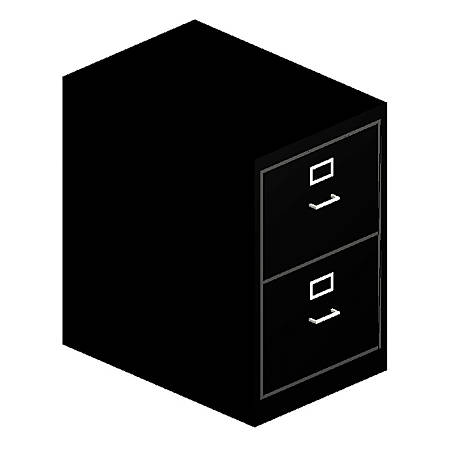 "HON® H320 Series 26 1/2""D Vertical 2-Drawer Legal File Cabinet, Black"