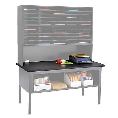 "Safco® E-Z Sort® Mailroom Furniture, Table Top, 1""H x 60""W x 30""D, Black"