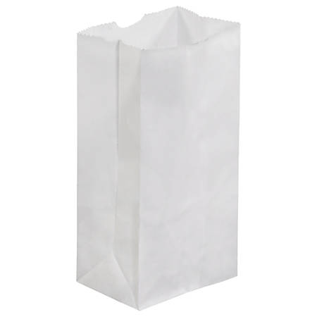 "Partners Brand Grocery Bags, 6 7/8""H x 3 1/2'W x 2 3/8""D, White, Case Of 500"