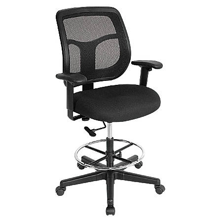 Eurotech Apollo Drafting Stool, Black