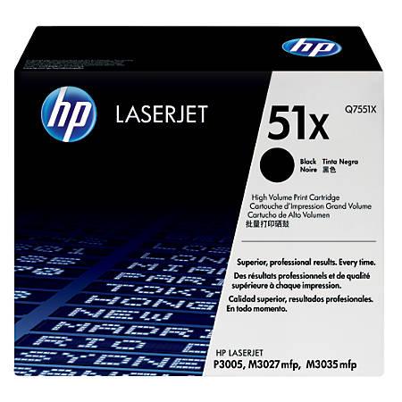 HP 51X High-Yield Black Toner Cartridge (Q7551X)