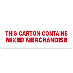 Tape Logic Mixed Merchandise Preprinted Carton