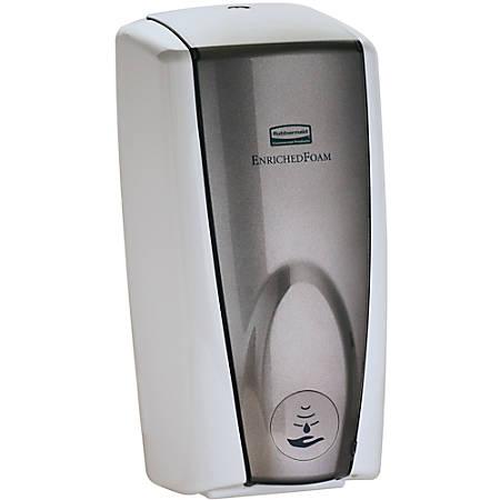 Rubbermaid® Auto Foam Soap Dispenser, Gray Pearl/White