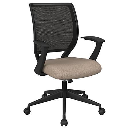 Office Star™ Work Smart Mesh Task Chair, Cotton/Black