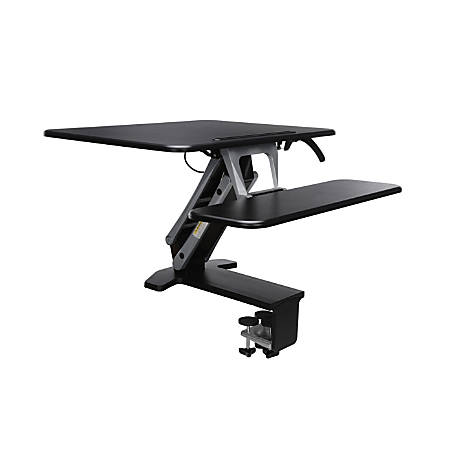 OFM Sit-To-Stand Workstation, Small, Black