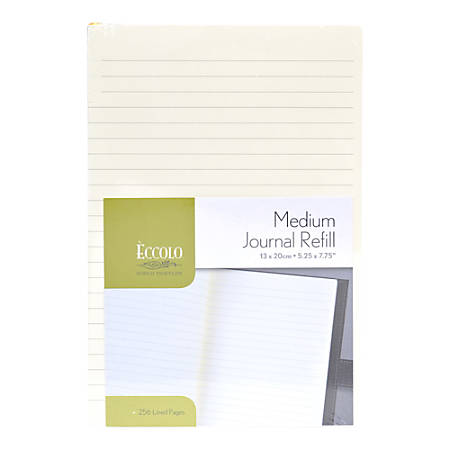 """Eccolo™ Magnetic Journal Refill, 5 1/4"""" x 7 3/4"""" Pages, Ivory"""