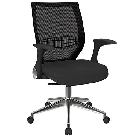 Office Star™ Pro-Line II ProGrid Fabric High-Back Chair, Shale/Black/Silver
