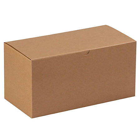 """Office Depot® Brand Gift Boxes, 12""""L x 6""""W x 6""""H, 100% Recycled, Kraft, Case Of 50"""