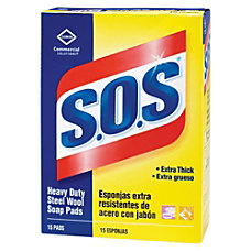 SOS Soap Pads Box Of 15