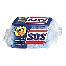 SOS Sponge Scrubbers Pack Of 3